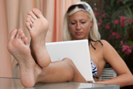 small preview pic number 3 from set 1205 showing Allyoucanfeet model Eva