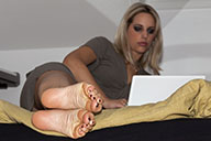 small preview pic number 2 from set 1448 showing Allyoucanfeet model Madeleine