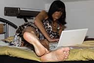small preview pic number 3 from set 1588 showing Allyoucanfeet model Gina