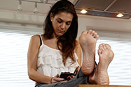 small preview pic number 1 from set 2145 showing Allyoucanfeet model Mel