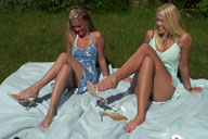 small preview pic number 1 from set 330 showing Allyoucanfeet model Trixi & Jessi
