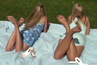 small preview pic number 2 from set 330 showing Allyoucanfeet model Trixi & Jessi