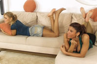 small preview pic number 5 from set 480 showing Allyoucanfeet model Amira & Ciara