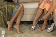 small preview pic number 1 from set 579 showing Allyoucanfeet model Vizzy & Gülli