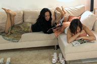 small preview pic number 2 from set 579 showing Allyoucanfeet model Vizzy & Gülli