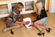 small preview pic number 1 from set 582 showing Allyoucanfeet model Jen & Christiane