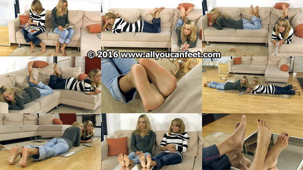 bigger preview pic from set 730 showing Allyoucanfeet model Christiane & Nana